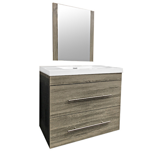 Wall Hung Vanity & Top / Mirror
