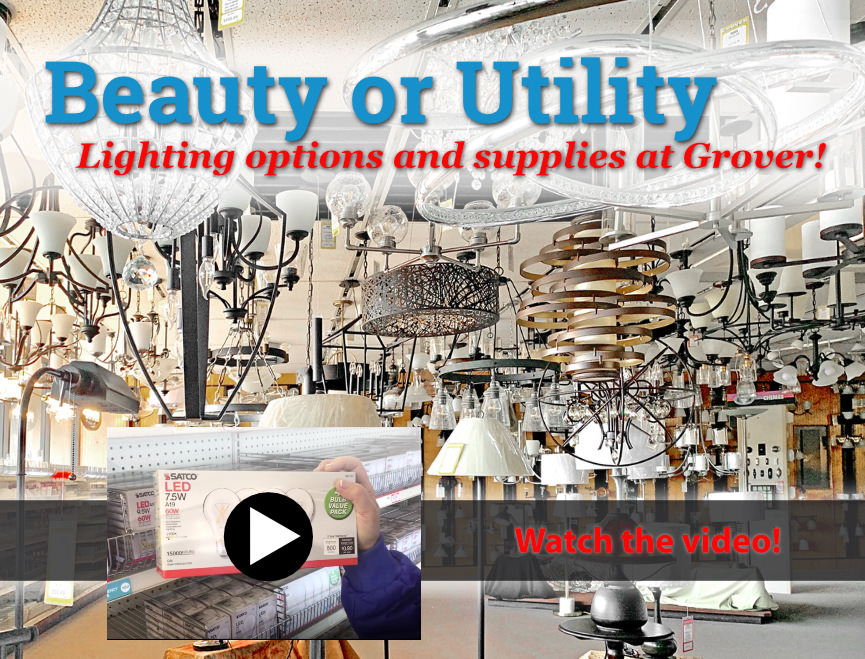 Indoor lighting options and supplies